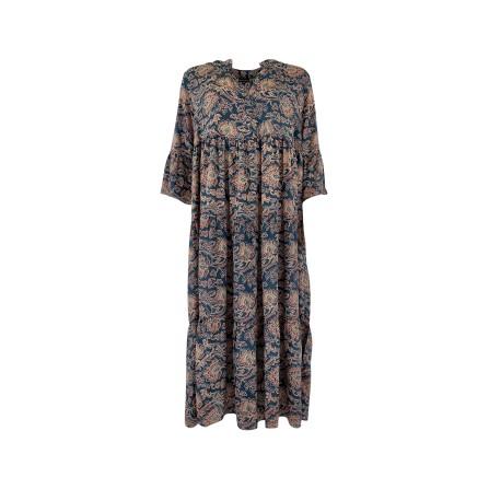 Black Colour LUNA BOHO long dress - Kjole 3843 Midnight Lotus