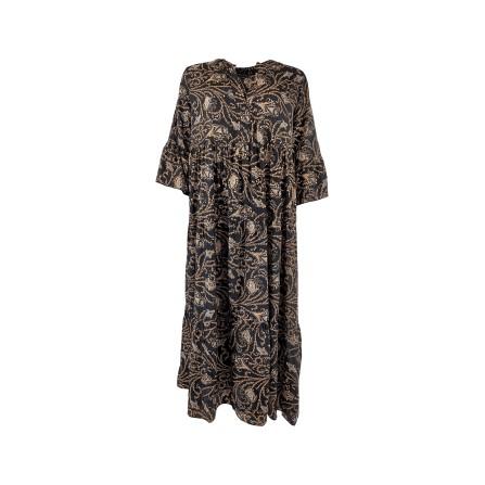 Black Colour LUNA BOHO long dress - kjole 3843 Coco Black