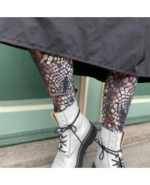 Black Colour DRACO Snake Soft Leggings 2221
