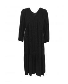 Black Colour VALERY Silver Spot Dress 3856