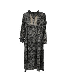 Black Colour LUNA GRACE Long Boho Dress 3861