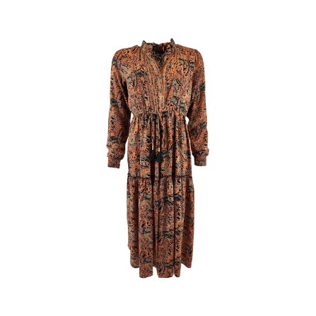 Black Colour LUNA ROSE Boho Dress 3808CO