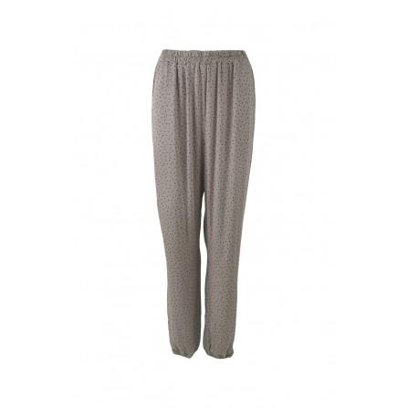 Black Colour ZIRA Dot Stretch Pants -Bukser 40027