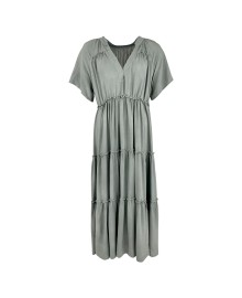 Black Colour ADA S/S Maxi Boho Dress 40075