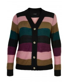 Gozzip Dorit Stripe Short Cardigan G215060
