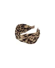 Black Colour Headband MILA LEO natural 9940NA