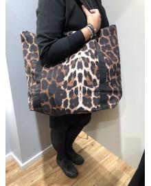 Black Colour ALLY shopper bag leo brown 9148LB