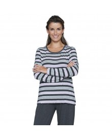 Lady Avenue Bamboo Long Sleeve Pyjamas 73-625