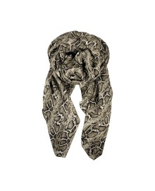 Black Colour SNAKE scarf natural 198020