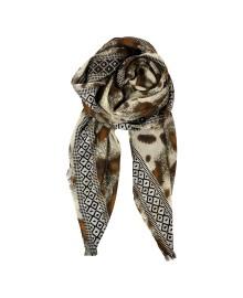 Black Colour BORA leo jacquard scarf Camel 188123CA