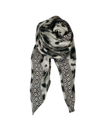 Black Colour BORA leo jacquard scard grey 188123GR