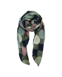 Black Colour CARMEN dot scarf olive 198011OL