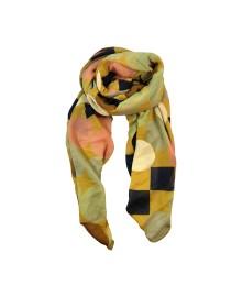 Black Colour CARMEN dot scarf yellow 198011YL