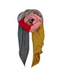 Black Colour COLOUR BLOCK knit scarf 198019