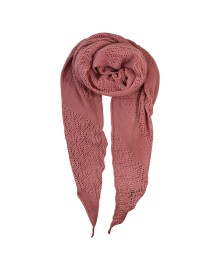 Black Colour PEARL KNIT scarf rose 198018RO