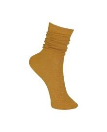 Black Colour Lurex sock yellow 4101YL
