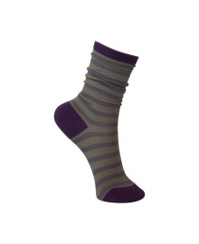 Black Colour Street stripe sock purple 4133PU