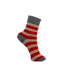 Black Colour WALLY striped sock red 4185RE