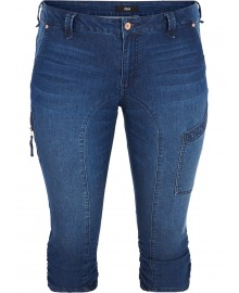 Zizzi Capri J10111A Dark Blue Denim