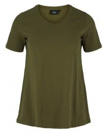 Zizzi T-shirt, Short Sleeve N00002A Ivy Green