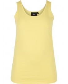 Zizzi Tank Top N00002B Yellow Cream