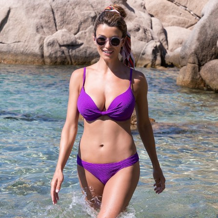 WIKI Push-up Bikini Top Violet 660-3460