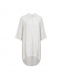 Tiffany Shirt/dress, Linen 17690 Stripes Beige