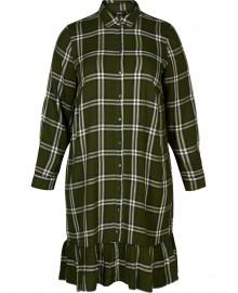 Zizzi XMELANIE, BLK, Shirt dress X94145C