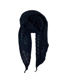 Black Colour PEARL KNIT scarf black 198018BL