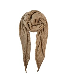 Black Colour PEARL KNIT scarf creme 198018CR