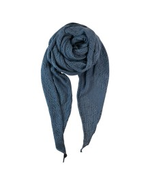 Black Colour PEARL KNIT scarf lt. blue 198018LB