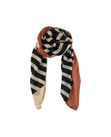 Black Colour LOLLY striped scarf blackterra 198035BL