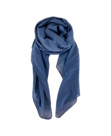 Black Colour EMMA plain scarf blue 198136BU