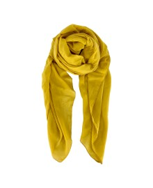 Black Colour EMMA plain scarf mustard 198136MU