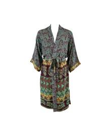 Black Colour LUNA long kimono cactus green 9884CG