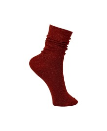 Black Colour Lurex sock paprika 4101PA