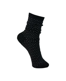 Black Colour Lurex dotted sock black 4102BL