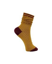Black Colour Lolly dot sock curryblack 4146CB