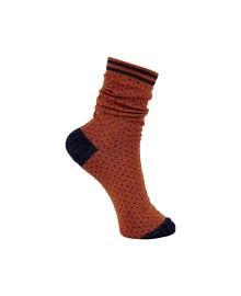 Black Colour Lolly dot sock camel 4146CA