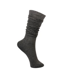 Black Colour Knee lurex sock grey 4161GR