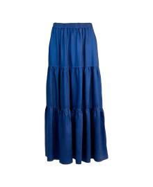 Black Colour BLUE Denim Maxi Skirt 9889