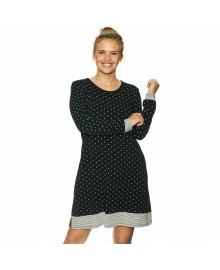 Lady Avenue Bamboo Long Sleeve Nightdress 80-1004