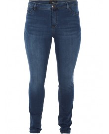 Zizzi JEANS LONG, NILLE EX.SLIM J93300A BLUE DENIM WASHED