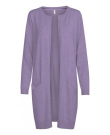 Pulz PZSARA Long Cardigan 50203258 Purple Haze