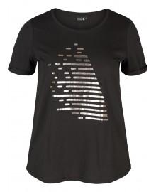 Zizzi ALOGO, print, t-shirt A00203A