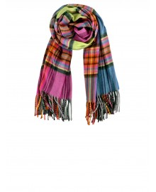 Black Colour NEWTON check Scarf Neon 198160