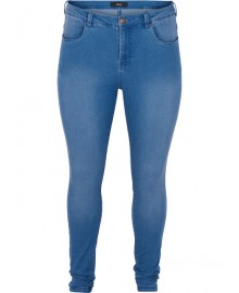 Zizzi Jeans. Long Amy, superslim O10305L Light Blue Denim