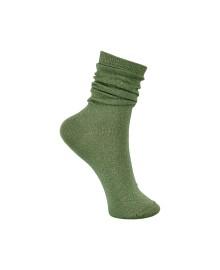 Black Colour Lurex Sock Misty Green 4101MG