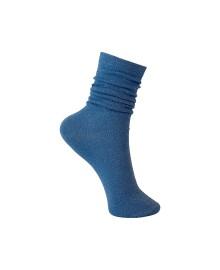 Black Colour Lurex Sock SkyBlue 4101SK