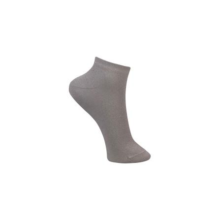 Black Colour Anclet glitter sock White 4115WH
